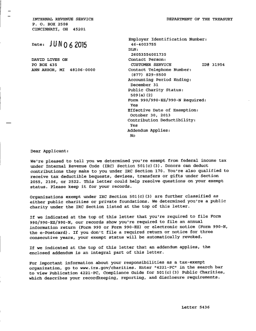 Status Determination Letter (1)