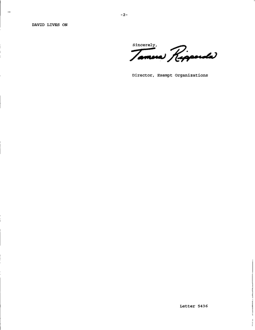 Status Determination Letter Page 2